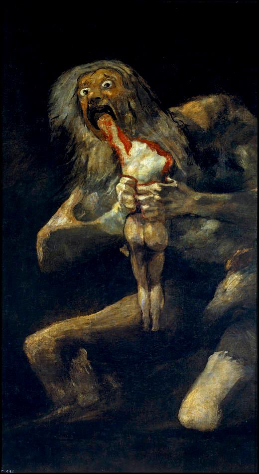 """""""Saturn Devouring His Children"""" by Goya"""