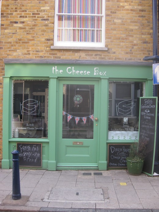 The Cheese Box, 60 Harbour Street, Whitstable. Photograph by CJ Stone