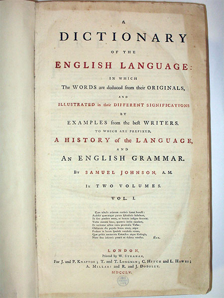 Dictionary of the English Language 1755