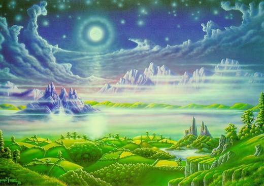 An artistic representation of Heaven
