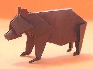 """Bear origami from """"Animal Origami for the Enthusiast"""""""