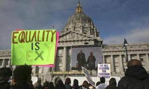 Protestors in California