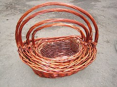 Wicker baskets come in many sizes