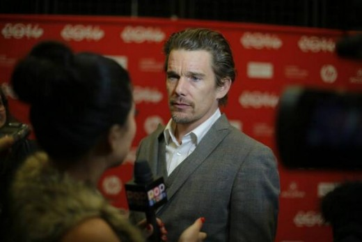 Ethan Hawke promoting his new movie Boyhood.