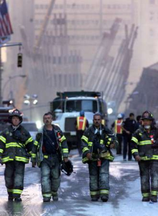 "We need more ""Good People"" to help pick us up when we fall. (Rescue workers from 9/11.)"