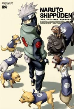 Hatake Kakashi with his summoned dogs.