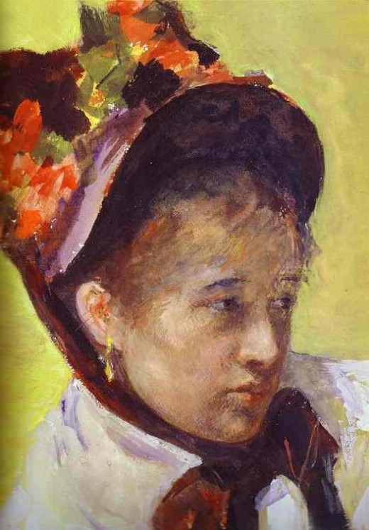 One Of my favorite women artists is american Mary Cassatt. I have a beautiful Cassatt print hanging in the dining room of my bed and breakfast, along with the other impressionist painters who I love so well. Cassatt was born in Allegheny City, PA.