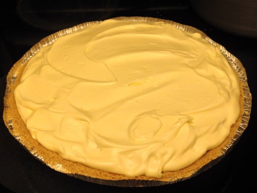 Refrigerate pie to set pudding