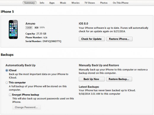 iTunes lets you restore iPhone firmware and iPhone backup