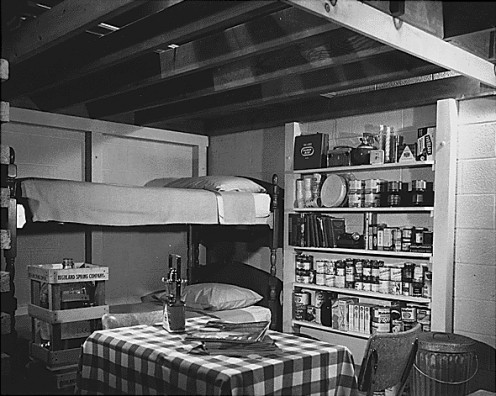 A 1950s fallout shelter.  Some might say this was a precursor to the modern prepper movement but many of us trace our roots back much further, many times to our own ancestors drive to survive.