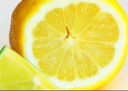 Lemon helps make beautiful skin.