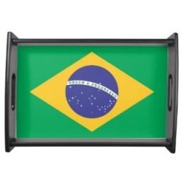 Brazilian Flag Serving Tray