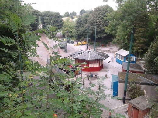 The Wakebridge tram stop at Crich Tramway Village.