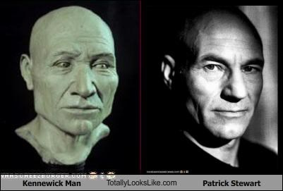 Kennewick Man resembles actor Patrick Stewart