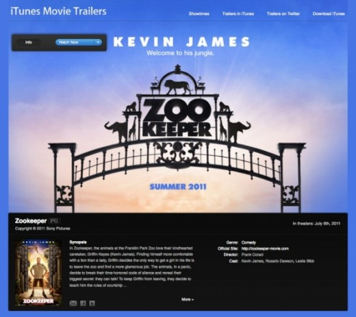 Kevin James Zookeeper iTunes