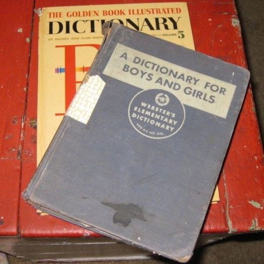 Vintage dictionaries for crafting.