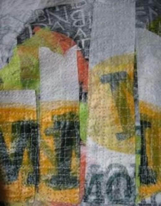 Plastic Collage in Progress