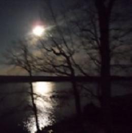 Full Moon Over Beach Pond