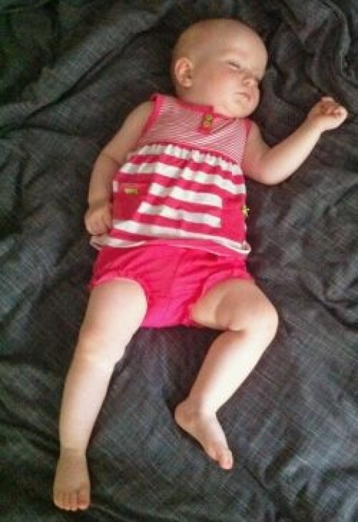 Carter's Pink and White Swing Top and Bloomer Set