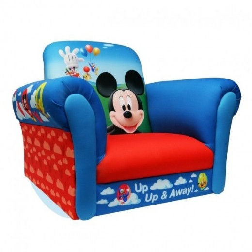 Mickey mouse children 39 s chairs and room d cor for Kids overstuffed chair