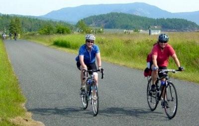 Cycling in San Juan Islands