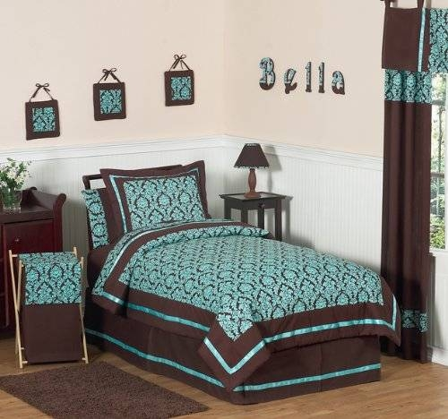 Turquoise and Brown Bella Children's & Teen Bedding