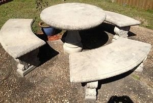 Old tired concrete patio sets deserve a fresh coat of color