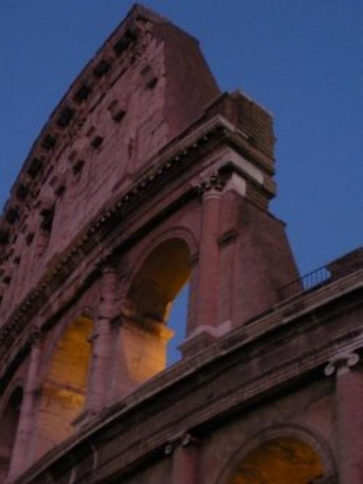 The Roman Coliseum at night