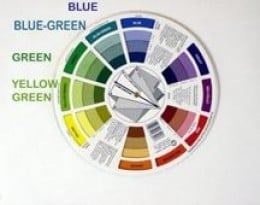 Identifying analogous colors with a color wheel