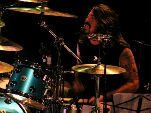 Dave Grohl on stage with Them Crooked Vultures