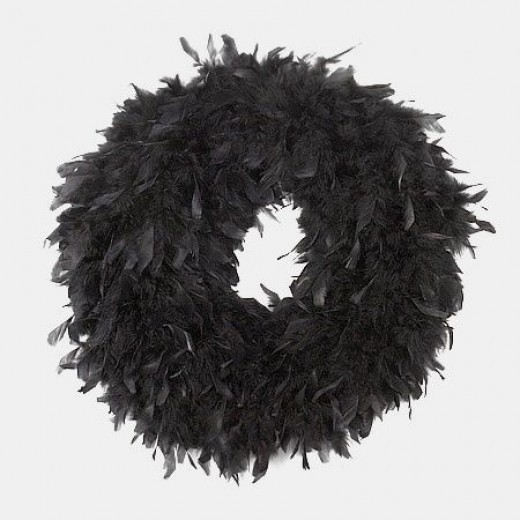 Halloween Feather Wreath