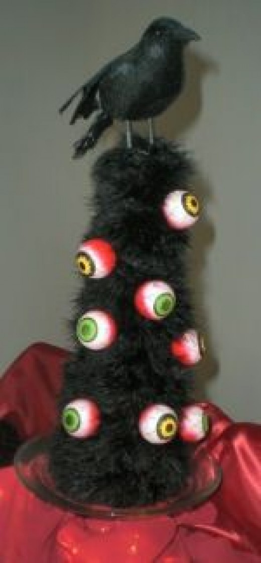 Halloween Crafts Eye Ball Tree