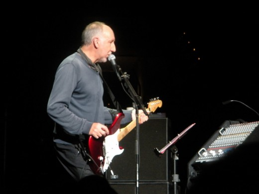 Pete Townshend on stage with The Who