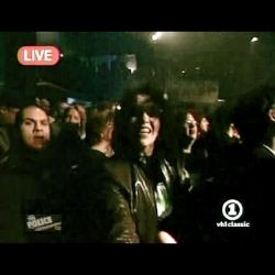 "Who is that in the center of this live screencap from VH-1? Why, that would be me, sockii, rocking out at the Whisky A Go-Go during The Police ""Rehearsal"" performance on February 12, 2007"