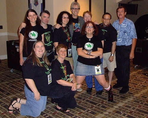 Stewart Copeland with fans - including me! - in Dallas, June 2007