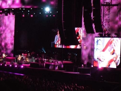 The Police on stage in Philadelphia at Citizens Bank Park