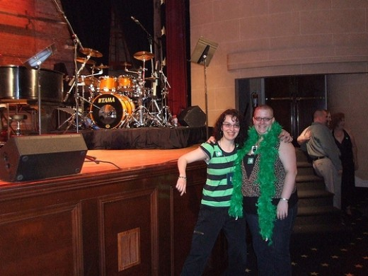 Myself and a fellow Stewart fan at An Evening with Stewart Copeland