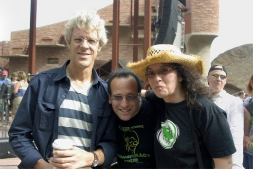 sockii and Dave with Stewart Copeland, Red Rocks.