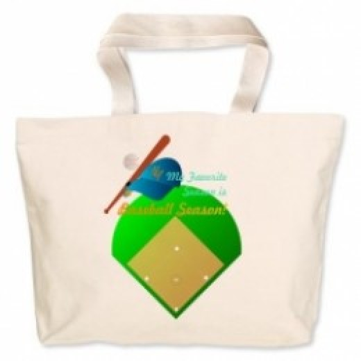 Baseball Season canvas bag