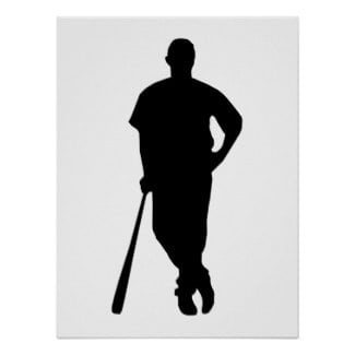 Baseball Player Silhouette Print