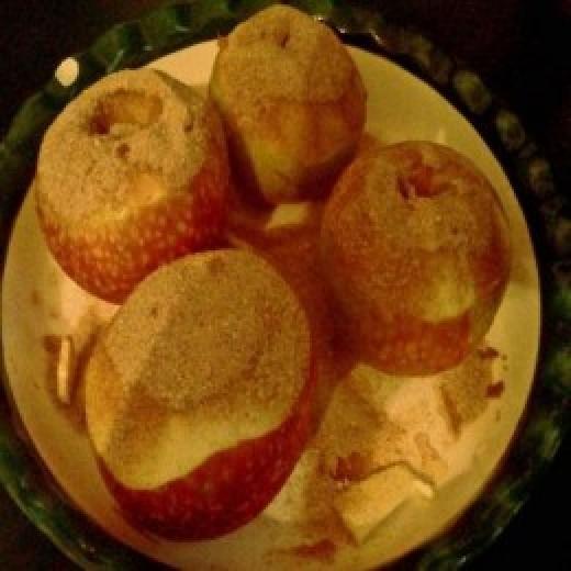 Baked Apples Before Baking
