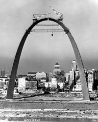 The St. Louis Arch was built during the 1960s.