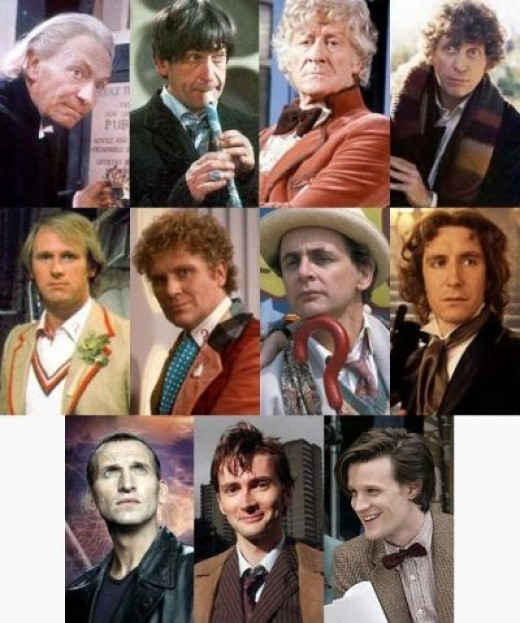 All The Doctors through the series minus newest