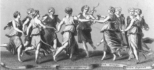 The Muses dancing together
