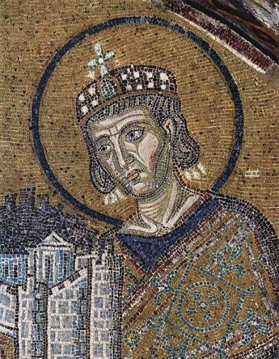 Mosaic of Constantine in Hagia Sophia