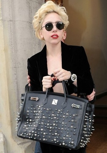Lady Gaga Customized Studded Bag
