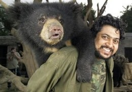 Co-founder, Kartick Satyanarayan, with rescued cub