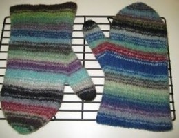 Felted Oven Mitts