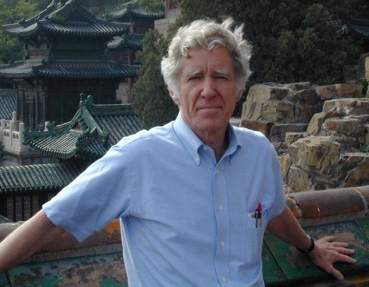 Lester Brown in Beijing, provided by Earth Policy Institute for use in this article, used with permission