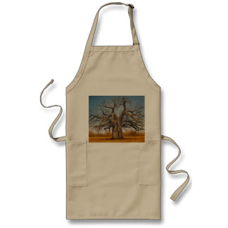 Apron with Baobab tree image for the BBQ